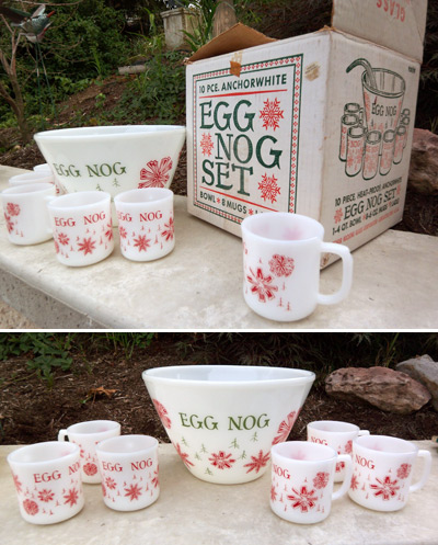 egg nog set