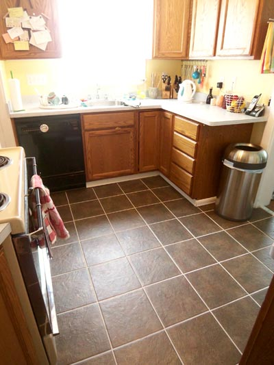 new kitchen tile floor home sweet home