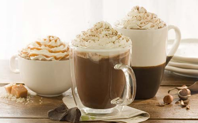 Starbucks Caramel Hot Chocolate - Pumpkin Chocolate Chip Cookies