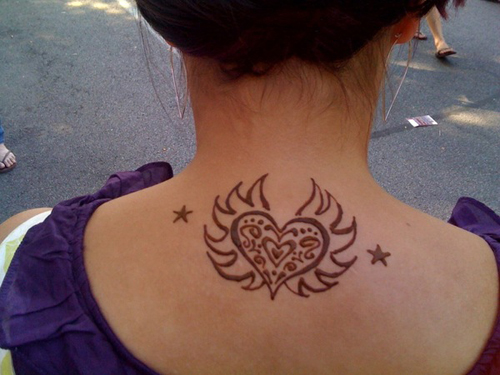 When I was at the Park Ave Festival I got a henna tattoo.