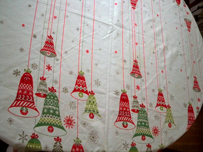 christmas bell tablecloth