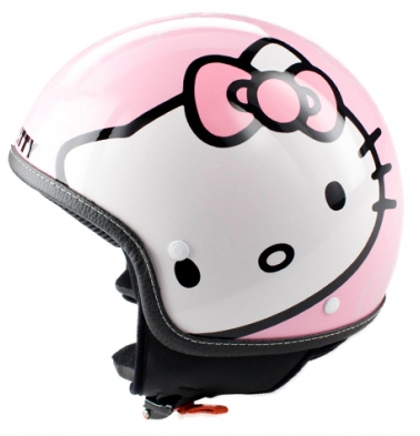 Pink Hello Kitty Helmet For Moped Or Motorcycle