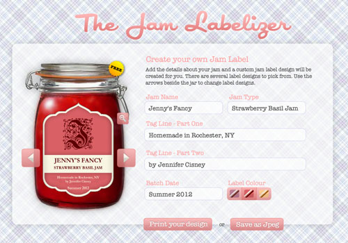ljcfyi: Jam and Beer Label Makers