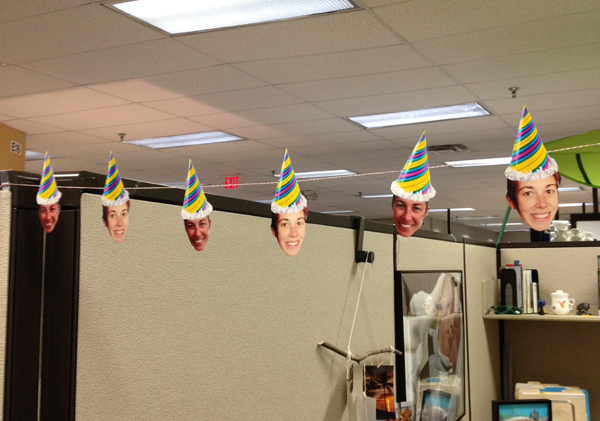 today is paulettes birthday and we wanted to have some fun in the office i birthday office decorations