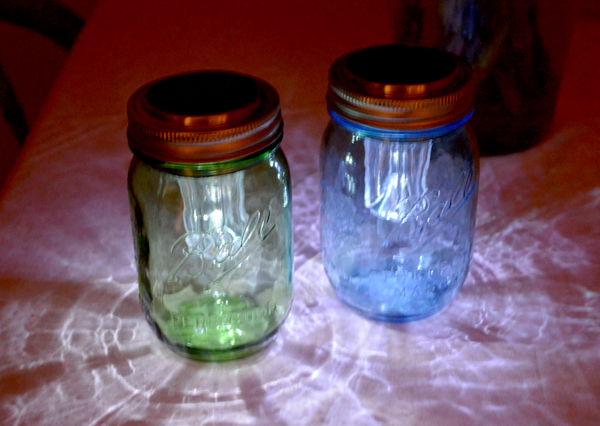 i was pretty surprised to find how well the solar lights work for only 1 they charge in the daylight and then automatically turn on when it gets dark ball mason jar solar lights