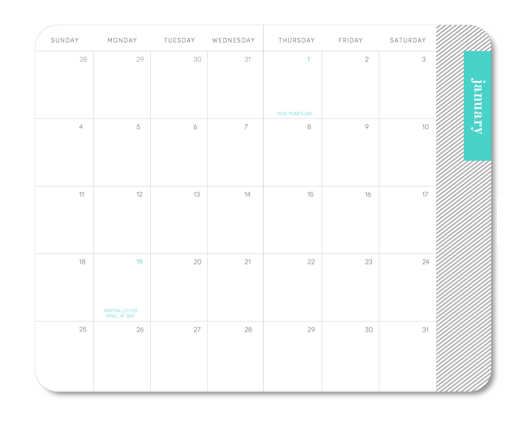 ljcfyi: May Designs calendar planner: Sunday through Saturday